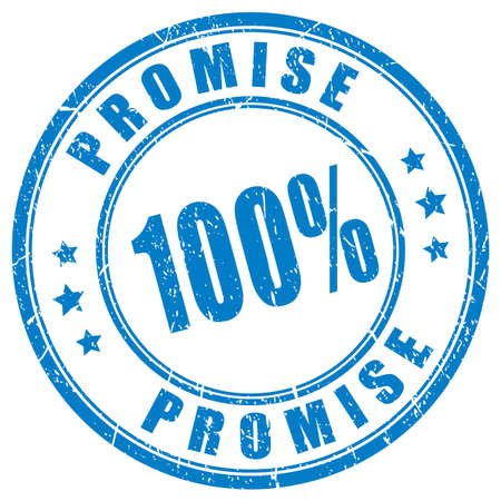 Promise rubber vector stamp