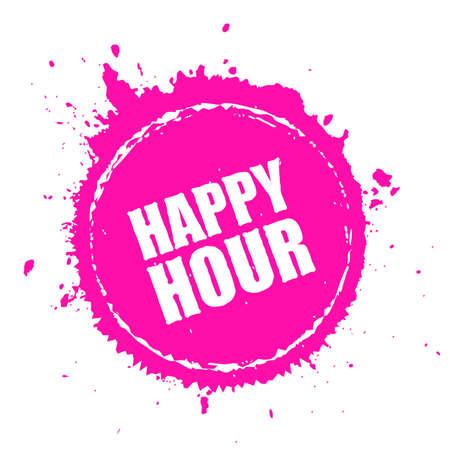 Happy hour splashing vector icon