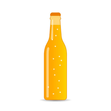 Bottle of carbonated beverage vector icon