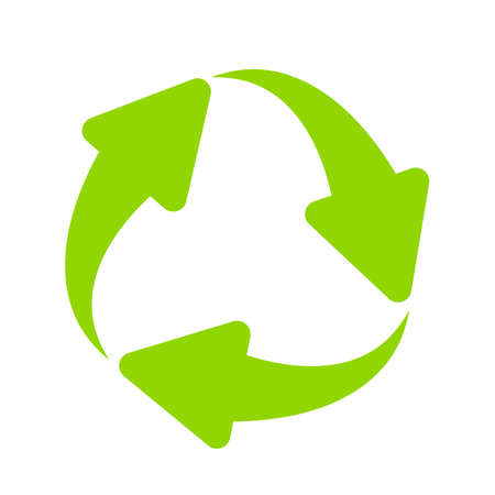 Green cycle vector symbol