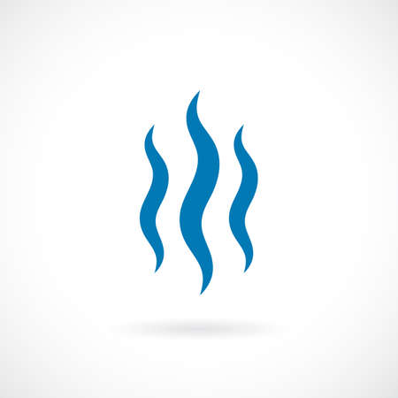 Vapour vector icon Illustration