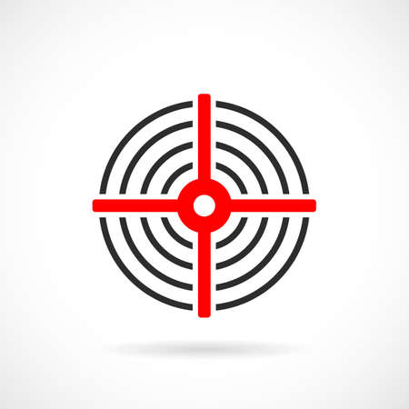 Red target vector icon