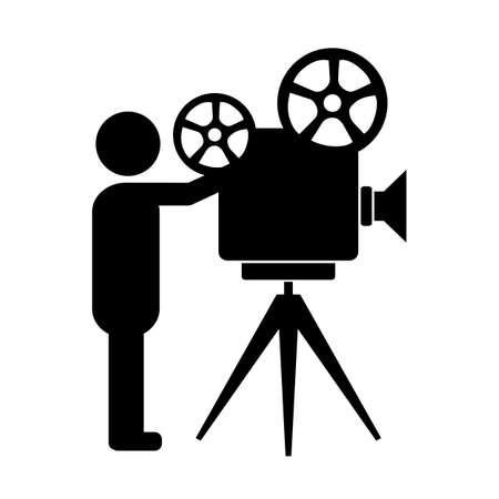Movie producer vector icon Illustration