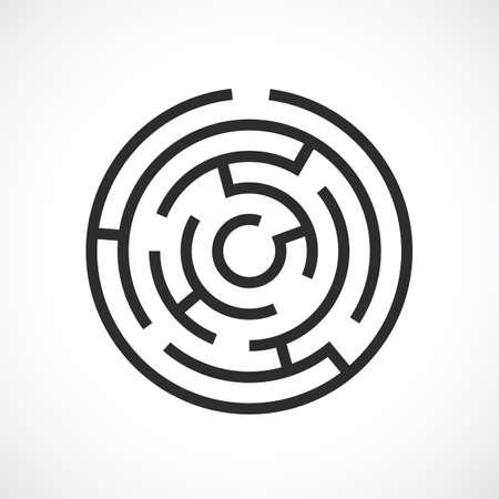 Labyrinth maze vector icon