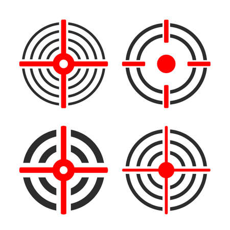 Shooting target circles vector set