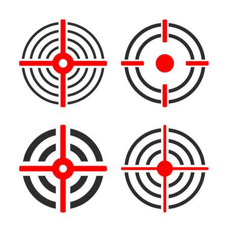 Shooting target circles vector set