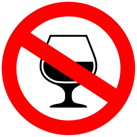 No alcohol vector sign Illustration