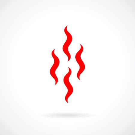 Evaporation smoke vector icon