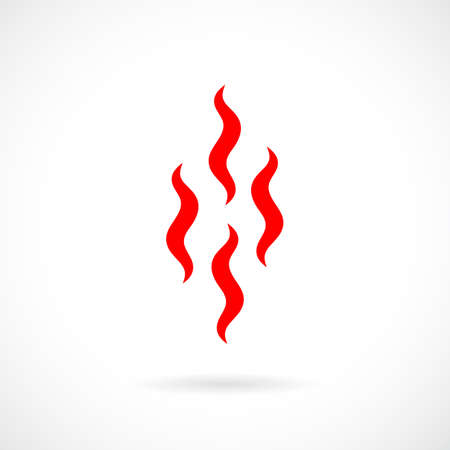Evaporation smoke vector icon