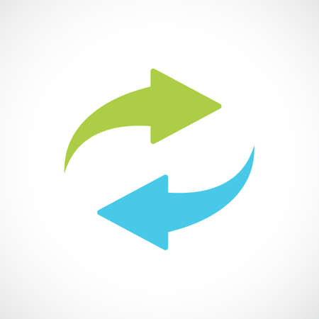 Renew arrows vector symbol