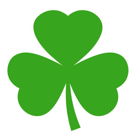Shamrock vector icon Illustration