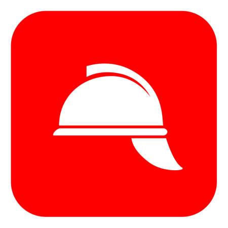 Firefighter retro helmet vector sign