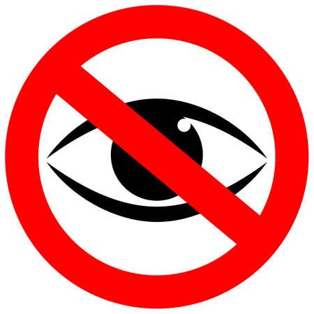 Stop watching vector sign Vectores