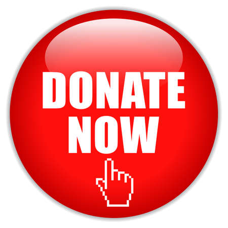Donate now red round web button