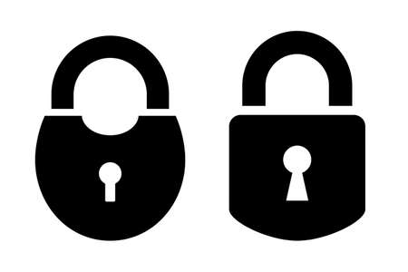 Two padlock vector icon