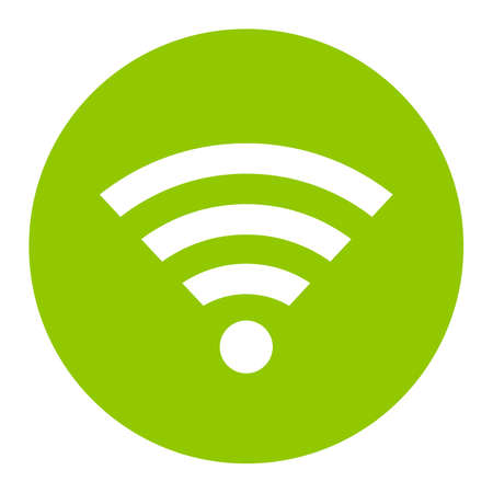 Green wireless network vector sign