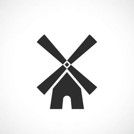 Ikona wektor wiatrak Ilustracje wektorowe