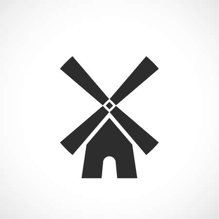 Wind mill vector icon