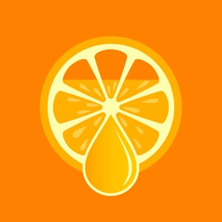 Fresh orange juice vector poster