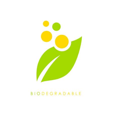 Biodegradable vector logo