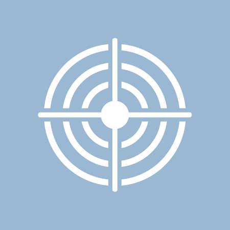 Shooting aim vector pictogram