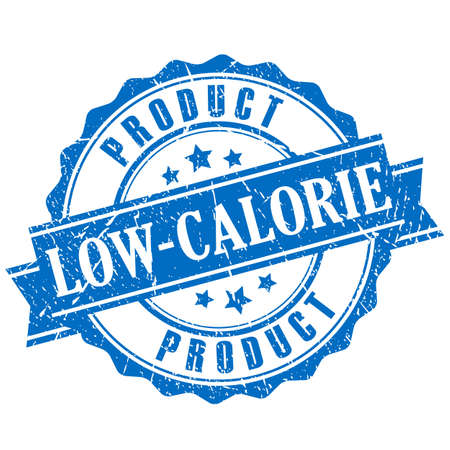Low-calorie product grunge stamp Иллюстрация
