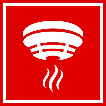 Znak wektor bezpieczeństwa zapobiegania pożarom