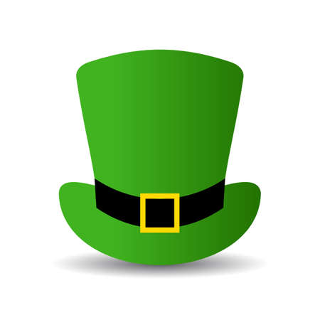 Leprechaun green hat vector icon Illustration