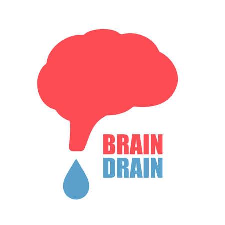 Brain drain vector icon