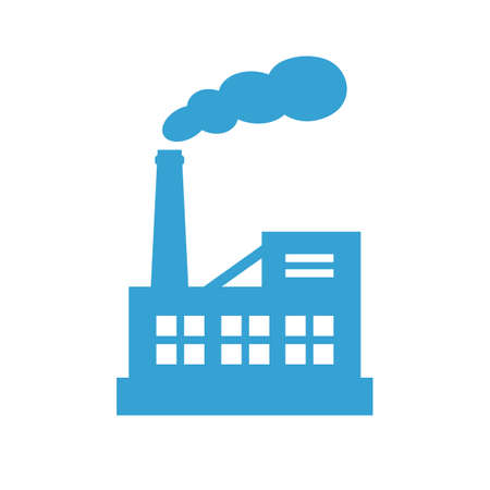 Big industrial factory vector icon