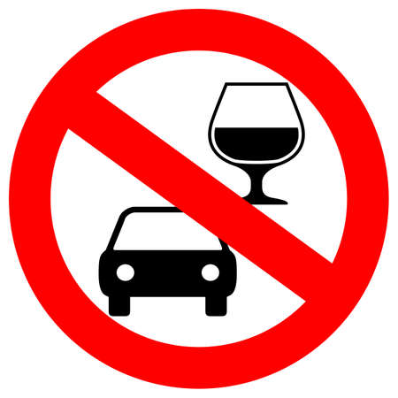 No drink and drive vector sign