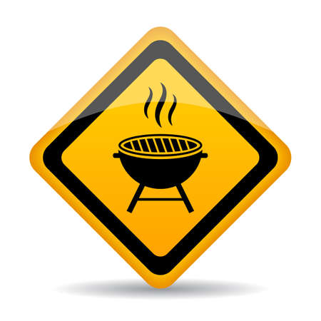 Grill zone vector sign Illustration