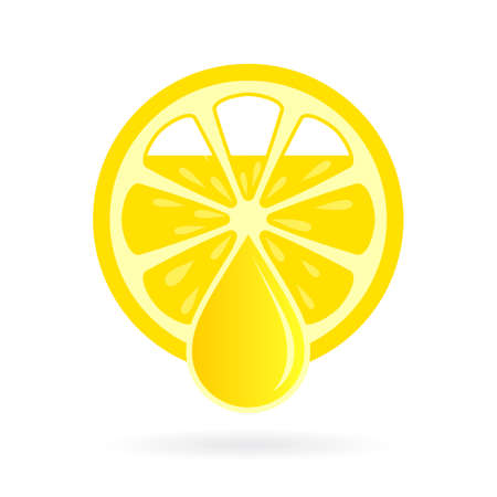 Fresh squeezed lemon juice vector icon Illustration