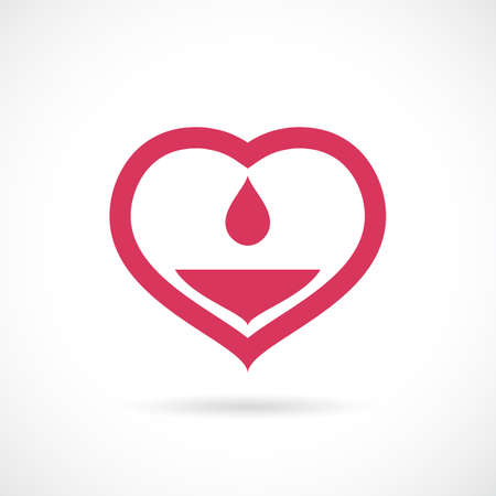 Blood donorship medical concept icon
