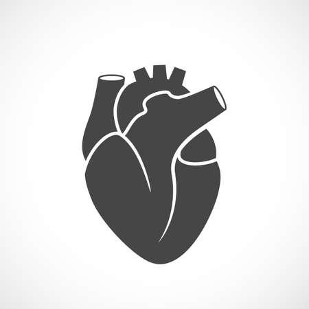 Heart organ vector symbol Stock Illustratie