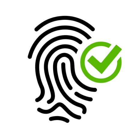 Biometric access granted vector icon