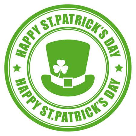 Happy St Patricks Day vector round label Illustration