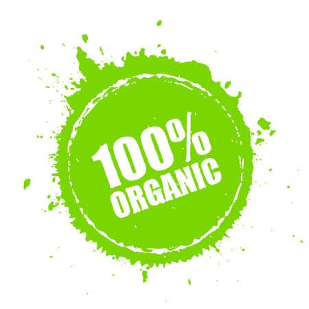 Organic product round spot icon