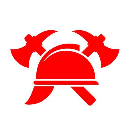 Red fireman vector pictogram