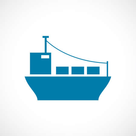 Cargo ship  icon Vector illustration. Vettoriali