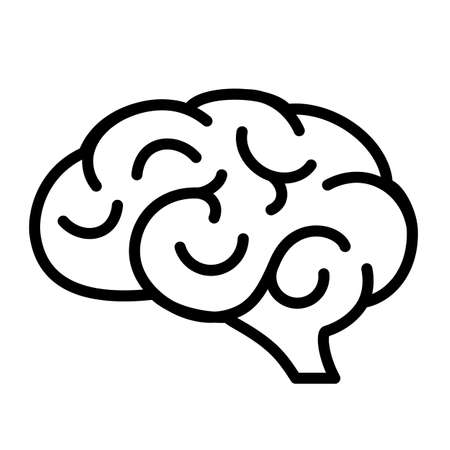 Ikona ludzkiego mózgu Ilustracja wektorowa.