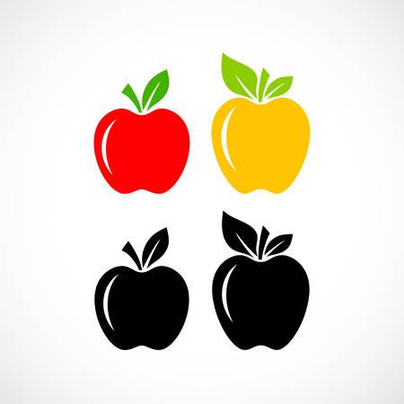 Apple fruit vector icon set