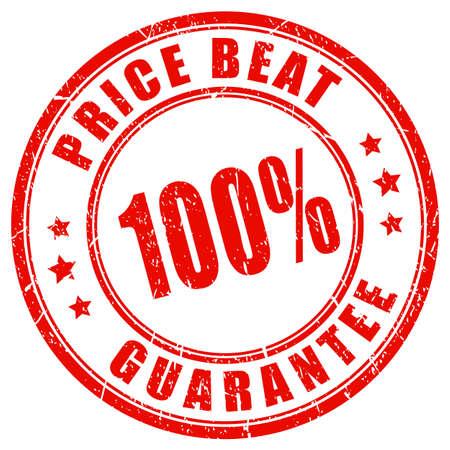 Price beat guarantee vector stamp Design