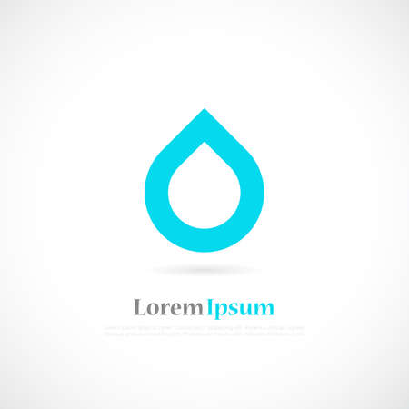 Water minimalistic  logo Vector illustration.
