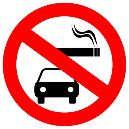 No smoking in vehicles  sign Vector illustration.