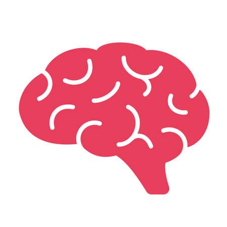 Red brain vector clip art icon 일러스트