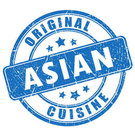 Asian cuisine vector stamp
