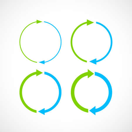 Blue and green cycle arrow icons