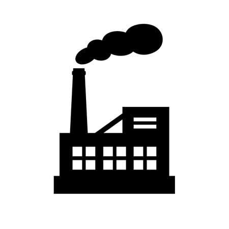 Factory black silhouette vector icon