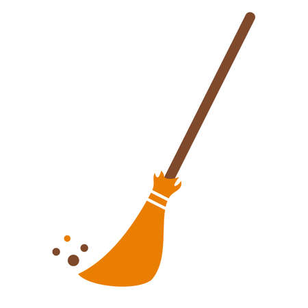 Broom stick  icon Vector illustration.
